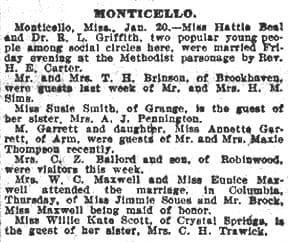 Monticello Mississippi New Article